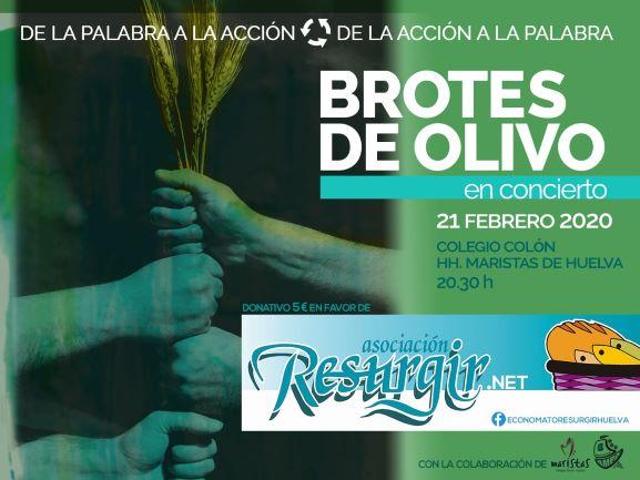 Concierto solidario de 'Brotes de Olivo' en el Colegio Maristas de Huelva