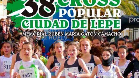 El XXXVIII Cross Popular 'Ciudad de Lepe' y el XIV Memorial 'Rubén María Gatón' se celebrarán este próximo sábado