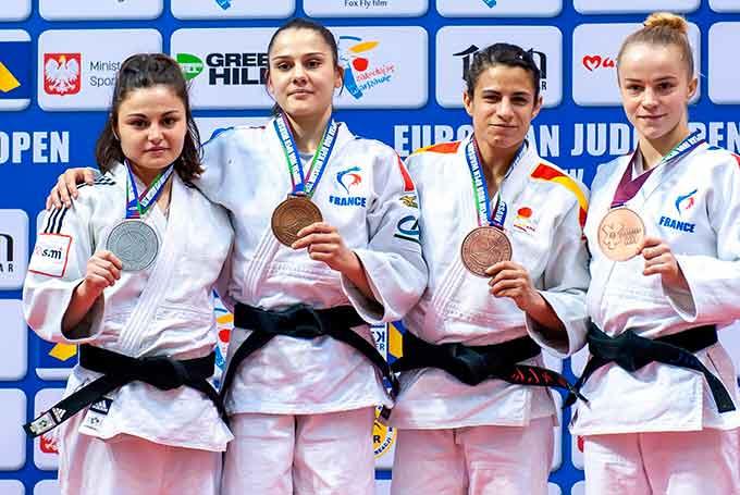 Cinta García se cuelga una trabajada medalla de bronce en el Open de Varsovia de Judo
