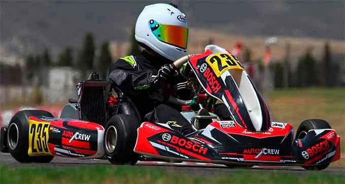 José Luis Cisneros, a por todas en el Campeonato de Europa de Karting 2020.