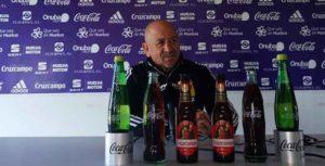 Claudio Barragán, entrenador del Recreativo de Huelva. / Foto: @recreoficial.
