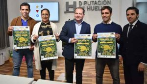 Un momento de la presentación del 'Andalucía Orientación Meeting' que tendrá lugar el fin de semana en Punta Umbría y Aljaraque.