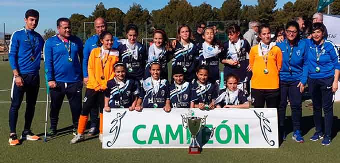Selección onubense Alevín, campeona de Andalucía de fútbol 7. / Foto: www.rfaf.es.