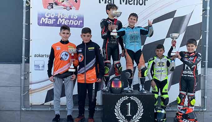 Hugo Millán, de nuevo en un podio en esta ocasión en unas pruebas en Murcia.