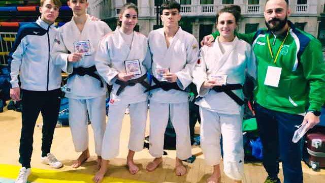 Cinco medallas para el Huelva TSV Judo en la Copa de Andalucía Infantil y Cadete