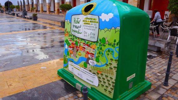 La Palma del Condado, premiada por superar el Reto Mapamundi y mejorar su reciclaje de vidrio