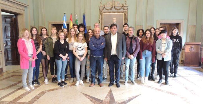 Huelva recibe a 20 jóvenes alemanes que realizan un intercambio escolar con alumnos del IES Diego Guzmán y Quesada