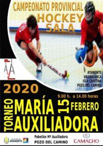 Cartel anunciador del torneo de hockey sala que tendrá lugar en Pozo del Camino este sábado.