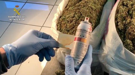 La Guardia Civil interviene una gran cantidad de marihuana durante un dispositivo preventivo en Ayamonte
