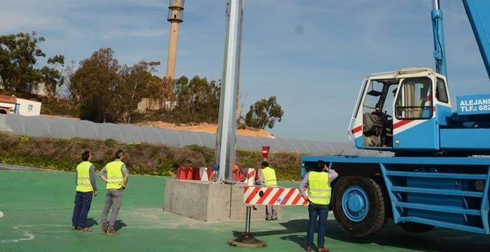 Palos de la Frontera acomete las labores de iluminación en la nueva ronda de la A-494