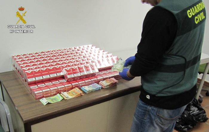 Intervenidas 1200 cajetillas de tabaco procedentes del contrabando en Almonte y Palos de la Frontera