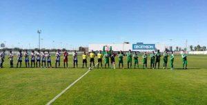 Prolegómenos del partido Atlético Onubemse-Guadalcacín. / Foto: CD Guadalcacín.