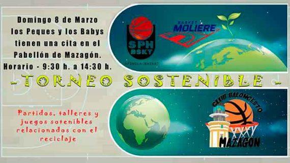 El Club Baloncesto Mazagón organiza para el domingo un Torneo Sostenible