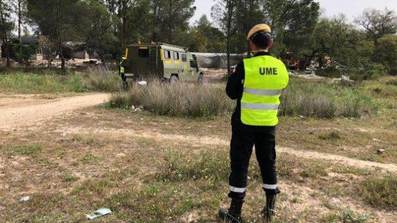 La Unidad Militar de Emergencia se despliega en distintos puntos de  Huelva