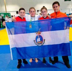 Representantes del Club Judonuba San Juan del Puerto en MIjas.