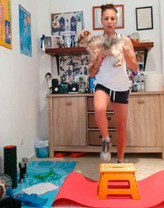 Elena Pavel, entrenando en casa. / Foto: @sportinghuelva.