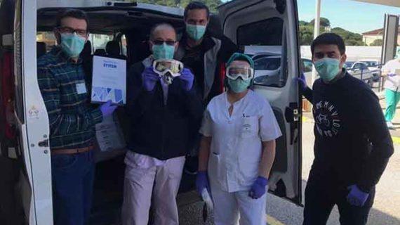 El Motoclub Tragatierra de Zalamea lidera una donación de material sanitario a los centros de la localidad