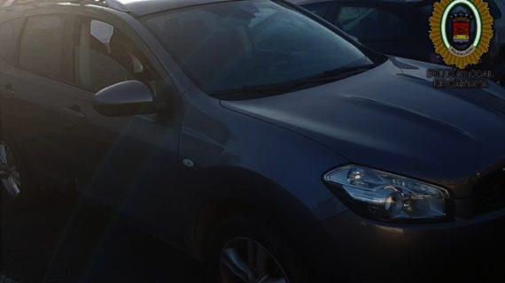La Policía Local de Cartaya recupera un nuevo vehículo sustraído en Jerez y detiene al presunto autor del robo