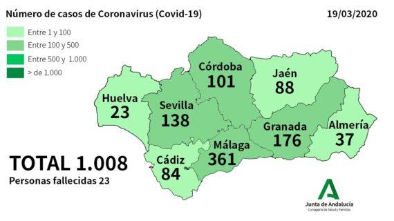 Los casos de coronavirus en Huelva ascienden a 23, 15 de ellos ingresados