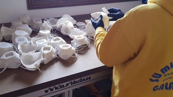 Una nueva iniciativa en Galaroza para la fabricación de mascarillas