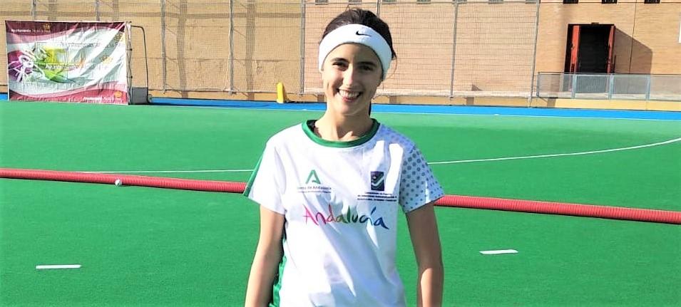 La isleña Mª del Rocío Álvarez, del Club Hockey Ayamonte, primera onubense en integrar la Selección Andaluza