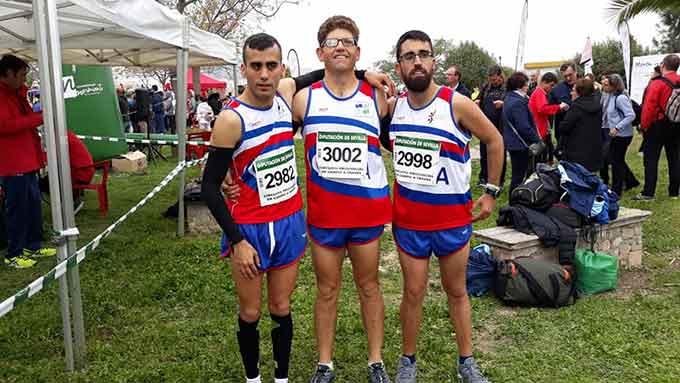 Atletas del CODA Huelva en el Campeonato celebrado en Morón e la Frontera.