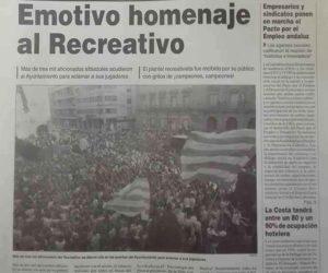 Crónica en Huelva Información del recibimiento al Recre tras caer en Soria.