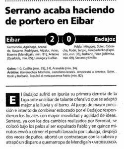 Reseña del Éibar-Badajoz en El Mundo Deportivo.
