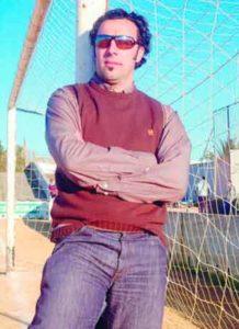 Domingo Serrano tuvo que ponerse de portero cuando jugaba en el Badajoz, y paró un penalti.