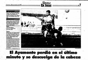 Así tituló La Voz de Huelva la reseña de la continuación del encuentro suspendido.