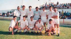 Formación de La Palma el día del partido del ascenso ante el Sanlúcar. / Foto: La Palma CF.