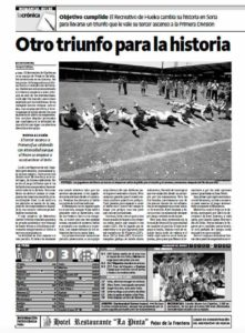 La crónica de Huelva Información del día histórico.