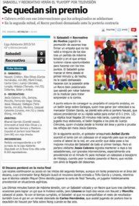 Crónica del partido en Marca en la edición digital.
