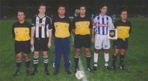 Pavón fue el capitán del Recre en el partido de inauguración del Nuevo Colombino.