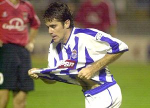 Raúl Molina anotó 33 goles en los 102 partidos que jugó en el Recre. / Foto: Huelva Información.