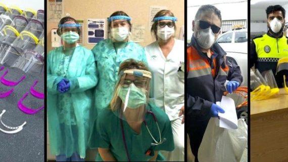 Investigadores de la UHU donan a sanitarios y colectivos sociales onubenses mascarillas y pantallas de protección contra el Covid-19