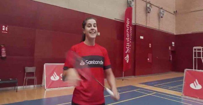 Carolina Marín, muy contenta con el regreso a la 'nueva normalidad' en los entrenamientos. / Foto: @123acorrer.