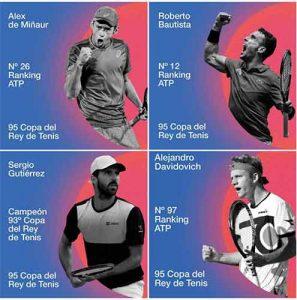 Los días 21 y 22 de julio se celebra la 95 Copa del Rey de Tenis con un cartel de lujo.