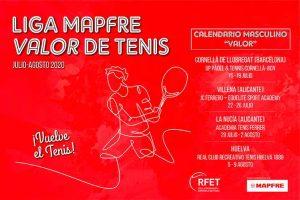 Huelva, escenario del cuarto torneo de la Liga Mapfre Valor Tenis.