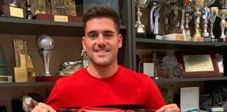 Adrián Sánchez, procedente del Isla Cristina, nuevo jugador del Cartaya para la temporada 2020-21. / Foto: @AD_Cartaya.