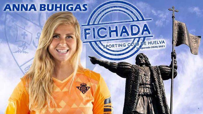 Anna Buhigas, muy contenta por jugar en el Sporting, espera