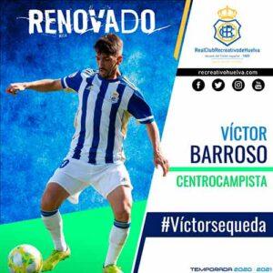 El Recre ha hecho oficial la renovación del canterano Víctor Barroso. / Foto: @recreoficial.
