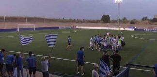Alegría de los jugadores del Bollullos tras la finalización del encuentro, con el pase a la final en el bolsillo. / Foto: Captura RFAF TV.