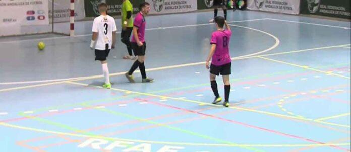 El gol de Javi Ponce dio esperanzas al Bollullos, aunque la alegría duró poco. / Foto: Captura RFAF TV.