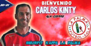 Carlos Kinty, segundo fichaje que hace oficial el Smurfit Kappa.