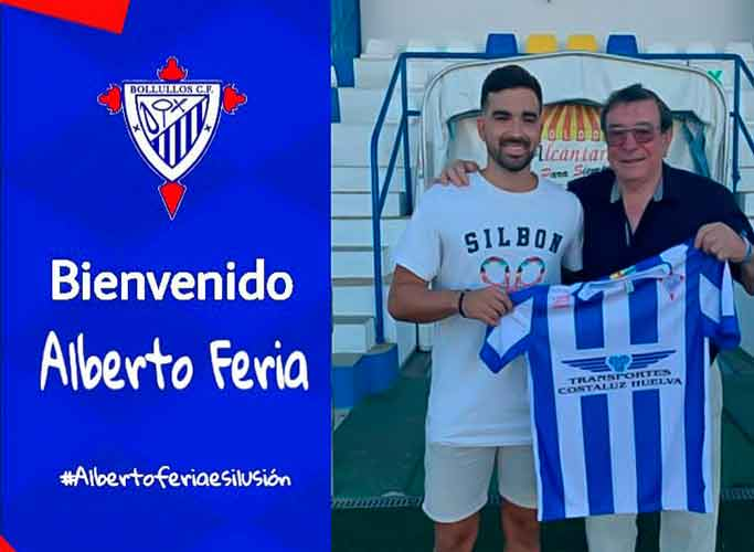 El centrocampista Alberto Feria, nuevo jugador del Bollullos. / Foto: @bollulloscf1933.