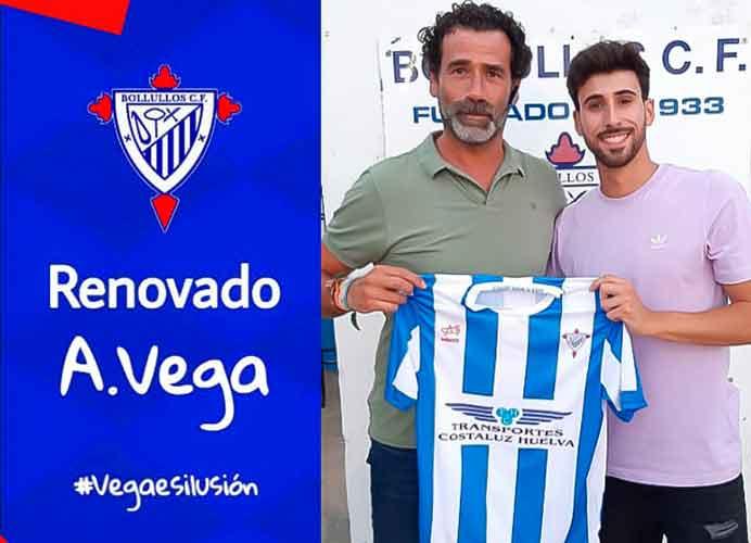 El centrocampista Antonio Vega seguirá a las órdenes de Kuiki en el Bollullos. / Foto: @bollulloscf1933.