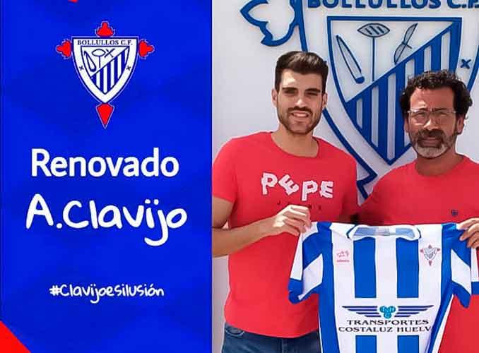 El central Antonio Clavijo debutará con el Bollullos en la División de Honor Andaluza. / Foto: @bollulloscf1933.