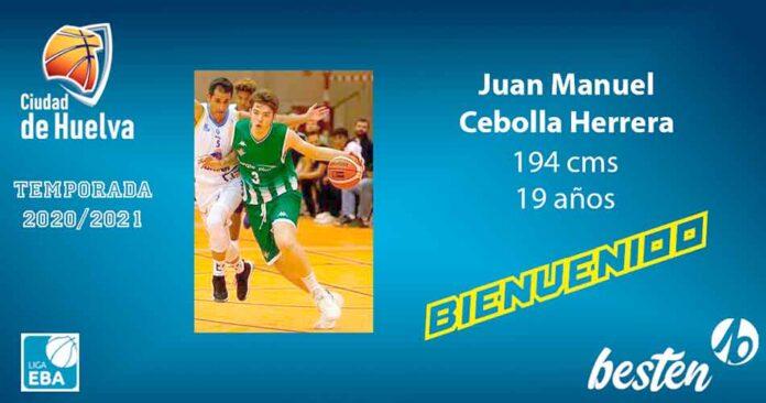 Juan Manuel Cebolla llega del CB Utrera y es el primer fichaje del Ciudad de Huelva para la Liga EBA. / Foto: @CiudadDeHuelva.