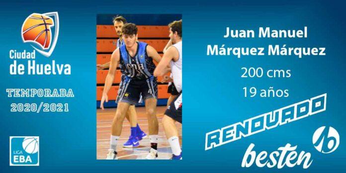 Juan Manuel Márquez, otro jugador canterano que progresa cada temporada. / Foto: @CiudadDeHuelva.